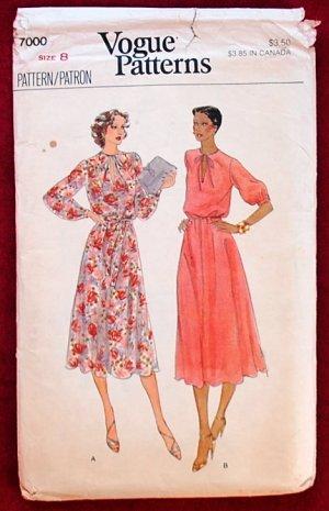 Vogue 7000 vintage c. 1979 peasant or Eastern European style dresses, size 8