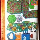 McCall's 8774 vintage 1967 pattern 25 bazaar boutique items, aprons, potholders, garment bags