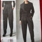 Vogue v1201 1201 Donna Karan pattern for wide lapel jacket and pleated pants size 14-20