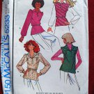 McCall's 5233 vintage 1976 pattern for peasant blouses, ala Laurent