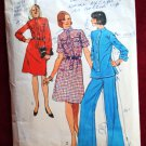 Simplicity 6210 vintage 1974 pattern mandarin collar tunic over pants or shirtdress, bust 36 inches