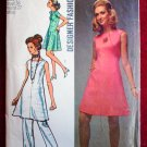 Simplicity 8775 vintage 1970 Designer Fashion pattern for tunic dress pants