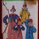 Simplicity 9051 vintage 1970 pattern for clown costumes, includes vest, ruffle neck, hats, bowtie