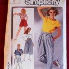 Simplicity 7459 vintage 1986 pattern culottes, 1940s shorts, Miyake-esque or Hammertime pants