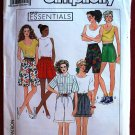 Simplicity 9672 Easy Essentials pattern for shorts, including boxing shorts for women, all sizes