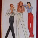 Butterick 6764 vintage 1980s pattern for pleated front, high waisted pants or slacks
