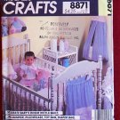 McCall's 8871 pattern for baby's nursery with stuffed animals scene wallhanging