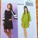 "Butterick 5522 or b5522 ""muse"" designer pattern color blocked dress, modernist 60s flair, 8-14"