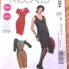 McCall's M6394 or 6394 pattern for color-blocked bicolor dress, 6-14