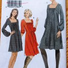 Vogue 8411 or v8411 peasant pleated dress, sizes 6-12
