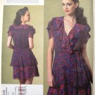 Vogue 1178 Anna Sui ruffled wrap dress pattern V1178 sizes 14-20
