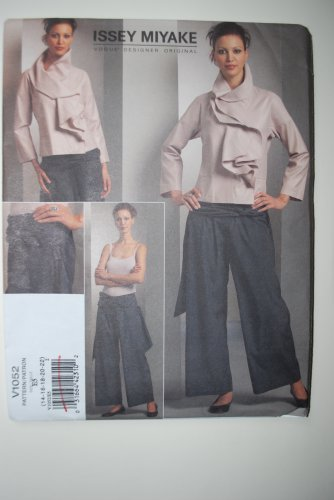 Vogue 1052 or v1052 Issey Miyake pattern for ruffled top and pants, size 14-22