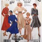 McCall's 3237 vintage 1987 dress pattern with cowl necklines, medium