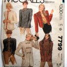 McCall's 7799 vintage 1981 pattern classic jackets, possible trachtenmode boiled wool jackets