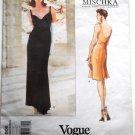 Vogue American Designer 1806 Badgley Mischka 1996 dress cut size 12