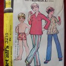 McCall's 3215 vintage 1972 pattern for boy's shirt, pants and swim trunks size 12