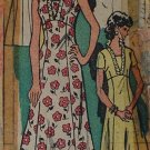 Let's Sew 4550 vintage 1976 mail order pattern for dress with ruffles, size 18.5 or 41 chest