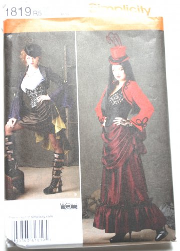 Simplicity 1819 goth burlesque Victorian or steampunk costume pattern, sizes 14-22 LaQuey
