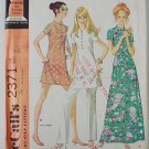 McCall's 2371 vintage 1970 pattern for Mandarin collar outfits size 7 or bust 31 inches