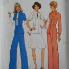 Simplicity 6859 vintage 1975 pattern for outfits with side epaulet details or waist tabs, sizes 5-7