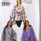 Vogue v8769 8769 pattern for batwing tops, coverups, lounge robes sizes lrg-xxl