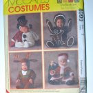 McCall's 8999 pattern for gingerbread, reindeer, Santa and snowman costumes for kids size 2