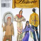 Simplicity 5446 pattern for Native American Costumes by Andrea Schewe sizes xs-xl