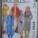 McCall's 6754 vintage 1979 pattern for quilted coats