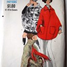 Miss Vogue pattern 7670 sizes 8-10 pullover poncho lined to edge