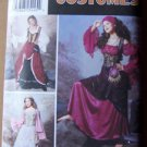 Simplicity 9966 size 6-12 pattern gypsy or fantasy wench costume size 6-12 .