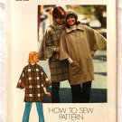 Simplicity 7122 vintage 1975 pattern for a poncho, one size