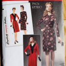 Simplicity 1777 pattern for Retro 1940s dress with ruching around yoke or bib, sizes 6-14