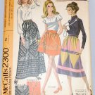 McCall's 2300 patchwork skirts 1970 pattern waists 23,24,25.5, 27 inches