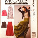 McCall's m6608 6608 pattern for skirts, including long with godets. Sizes 4-12