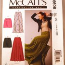 McCall's m6608 6608 pattern for skirts, including long with godets. Sizes 12-20