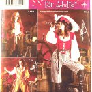 Simplicity 3677 pattern for woman pirate piratess costumes size 6-12