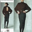 Vogue v1202 Donna Karan Collection ruched dress pattern sizes 4-6-8-10