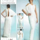 Vogue v1305 or 1305 Lialia by Julia Alarcon rusched dress gown sizes 14-16-18-20-22