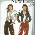 New Look 6476 vintage 1980s jacket blouse pleated slacks sews sizes 6-18