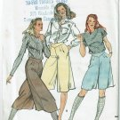 Butterick 3471 vintage 1980s pattern for culottes or pantskirts size 16