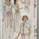 McCall's 8670 vintage 1951 Misses' nightbown & jacket pattern bust 30 inches