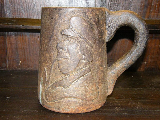 Vintage Cast Iron English Beer Mug-Unusual Piece