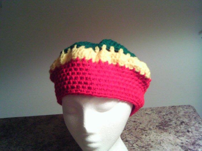 Rasta Crochet Medium Hat