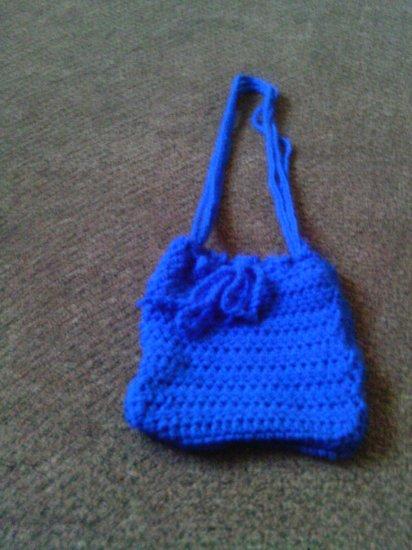 Crochet Small Blue handbag