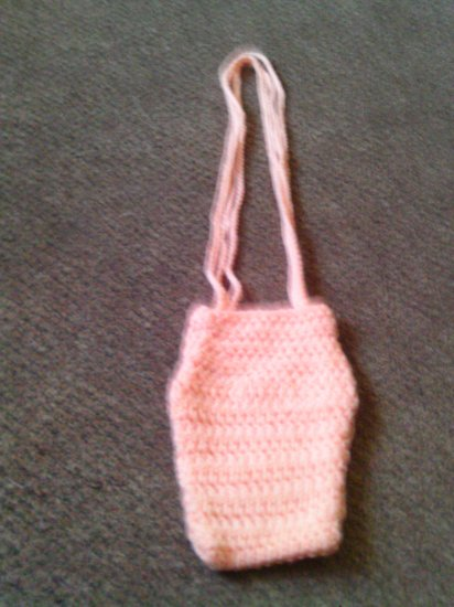Crochet Small peach handbag