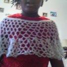 Crochet Medium White Pancho