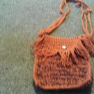 Crochet Small Brown Handbag