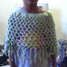 Crochet Medium  light green Pancho