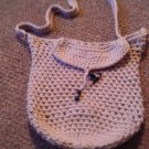 Crochet small Tan handbag
