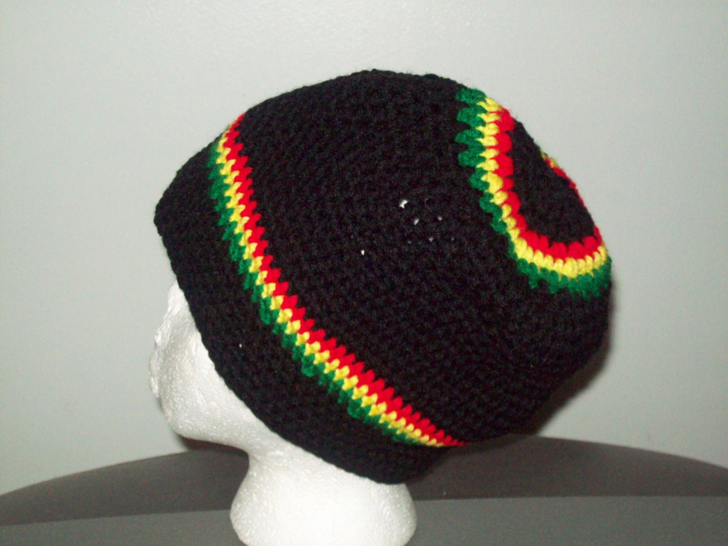 Meduim Black,  red, yellow & Green Hat